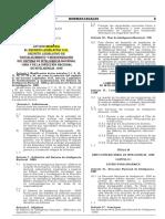 Ley N° 30535 - Ley Modifica DLeg 1141 - Fortalecimiento del SINA y DINI