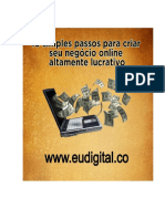 10 Passos Criar Negócio Digital