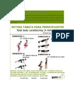 TABATA PRINCIPIANTES