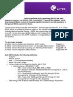 Aicpa Mcq Release Document 2019