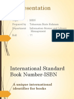 International Standard Book Number-IsBN t
