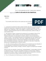 Apuntes Sobre La Escuela de Las Americas