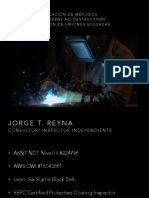 14. Selección y Aplicación de Métodos y Técnicas de Pruebas No Destructivas Para La Evaluación de Uniones Soldadas