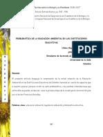 PROBLEMÁTICA DE LA EDUCACION AMBIENTAL EN LAS INSTITUCIONES EDUCATIVAS