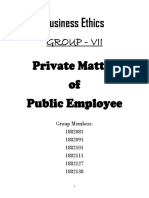 Private Matter of Public Employee