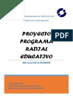 PROYECTO PROGRAMA RADIAL EDUCATIVO