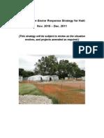 HAITI Cholera Inter Cluster Strategy Haiti Nov 2010 MASTER