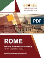 Preservation Rhinoplasty Programme