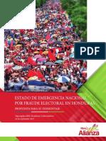 Estado de Emergencia Nacional Por Fraude Electoral ALIANZA