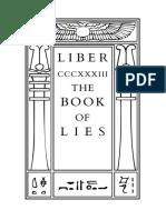 Crowley - The Book of Lies (Liber CCCXXXIII)