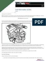 M50 Engine Technical Information (E36)