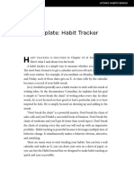 Tracking Habits James Clear List
