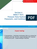 Impact & Pressure Tests