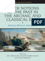 John Marincola_ Calum Alasdair Maciver_ Lloyd Llewellyn-Jones - Greek notions of the past in the archaic and classical eras _ history without history -- TEXT.pdf