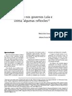 A saúde nos governos Lula e Dilma