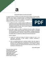 DECLARACIÓN IDEA ECUADOR