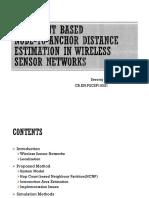 WSN - Distance estimation
