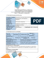 Fase 2 - Discusión y Evaluacion