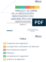 Módulo 5 El desarrollo y el cierre de la negociación con asesores, ética en la negociación.pdf