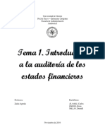 Introducción a La Auditoria de Los Estados Financieros