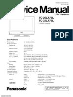 Panasonic Tc-32 26lx70l, Service manual, Manual de servicio