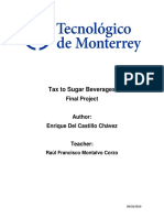 Tax to Sugar Beverages