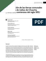 Noli, Estela et.al. La usurpación de las tierras comunales del pueblo de indios de Chuscha (Tucumán, comienzos del siglo XIX)