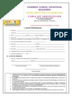 Ficha de Inscripciòn Cojuvomi