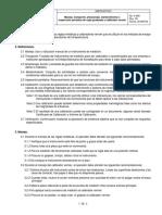 Manejo, transporte, almacenaje, mantenimiento e inspección periódica de regla graduada y calibrador vernier
