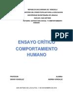 Ensayo Critico - Andrea Gonzalez