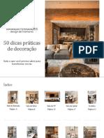 E-book 50 Dicas Práticas de Decoração
