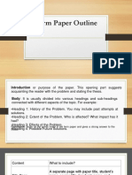 Term Paper Outline Ppt