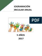 Programación Anual - 5 Años Imprimir
