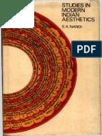Studies in Mordern Indian Aesthetics.S.K. Nandi