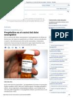 Pregabalina en El Control Del Dolor Neuropático