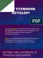 How Typhoons Develop