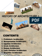 History of Architecture 1 Timeline