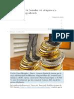 Panorama Fiscal de Colombia Con Su Ingreso a La OCDE