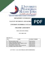 Fieldtrip Report Animal Physiology