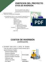 COSTOS DE INVERSIÓN