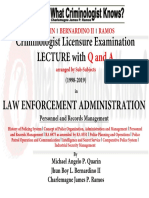 3. Lecture and Q and a Series in Police Personnel and Records Management