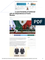 Encabeza Laura Fernández el tradicional grito de independencia en Puerto Morelos - Radio Fórmula QR