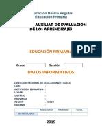 Registro Auxiliar de Evaluación de Los Aprendizajes 2019-2