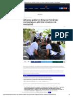 Refuerza gobierno de Laura Fernández campaña para eliminar criaderos de mosquitos