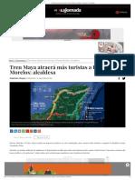 Tren Maya atraerá más turistas a Puerto Morelos_ alcaldesa - Economía - La Jornada