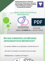 Métodos anticonceptivo