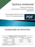 Aula 01 - Química Atmosféricase Poluição Atmosférica