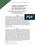 Identifikasi Sanitasi Pasar Di Kabupaten Jember 2014