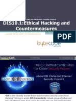 DIS10.1 Ethical Hacking and Countermeasures (2)