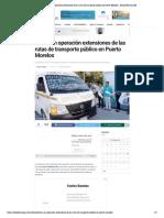 Entran en operación extensiones de las rutas de transporte público en Puerto Morelos - Radio Fórmula QR